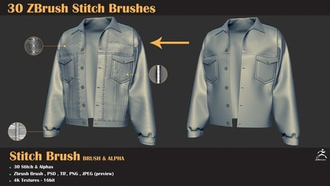 30 Zbrush Stitch Brushes