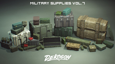Military Supply Props VOL.7 (UE4+RAW)