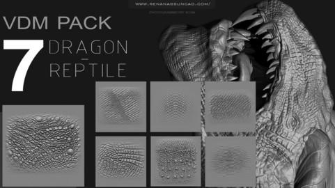ZBRUSH - REPTILE / DRAGON VDM PACK