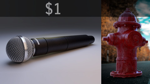 Shure Handheld Microphone & Fire Hydrant