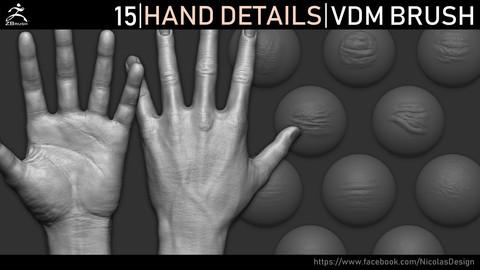 Zbrush - Hand Details VDM Brush