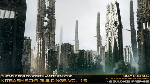 Kitbash Sci-fi Buildings Vol.1,5