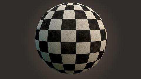 4k PBR Vinyl Checkered Tiles  Substance Designer Texture