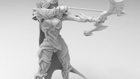 Dota 2 Drow Ranger Print Model