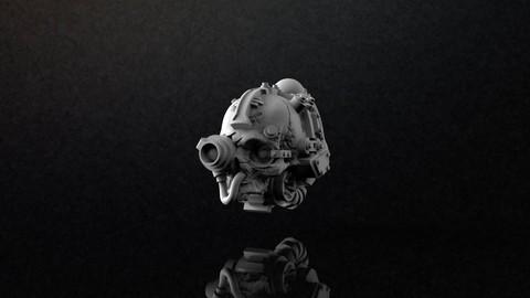 Servo Skull Print Model