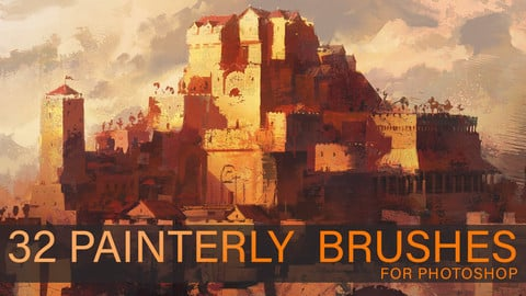 32 Custom Painterly Brushes