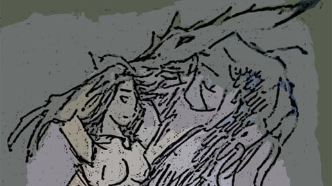 sketch fantasy and sci-fi art