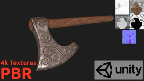 Pbr Game AX - Lowpoly