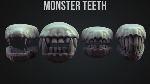 Monster Teeth IMM brush ZBrush