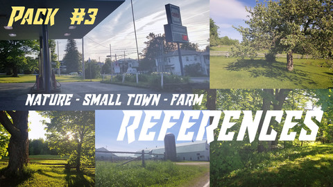 Nature - Farm - Small Town Photo References  (Pack 3 of 4)