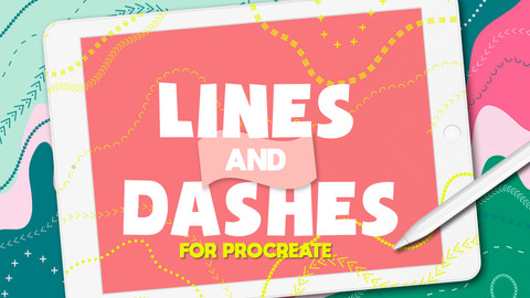 Lines & Dashes Procreate Brushes