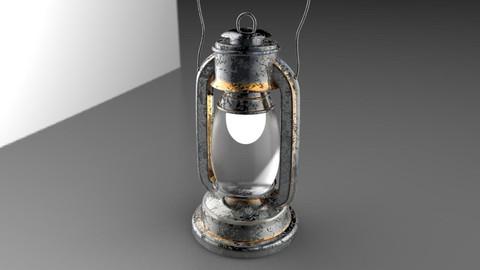 Lantern - High Poly 3D model