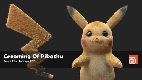 Grooming Of Pikachu in Houdini