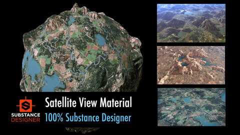 Satellite View Material - 100% Substance Designer