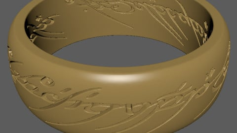 Lord of the Rings Ring for 3d print