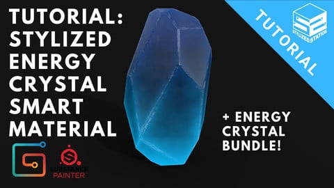 Stylized Energy Crystal Smart Material Tutorial & Substance Painter Smart Material Bundle