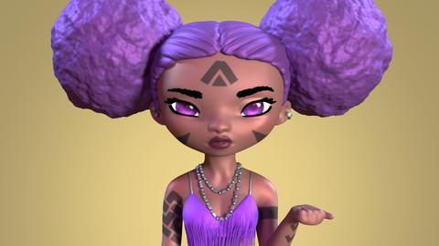 Mystical Girl STL File