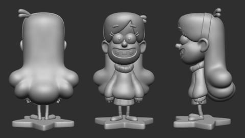 Mabel Printable Model (Gravity Falls)