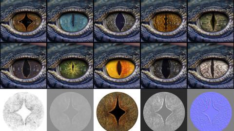 Creature Eye Textures - Vol 01