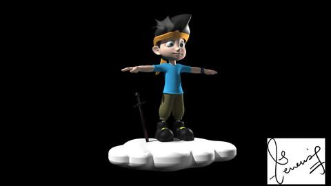 Cloud runner 3D Character  Model