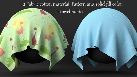 Procedural Сotton fabric material for Blender 3D.