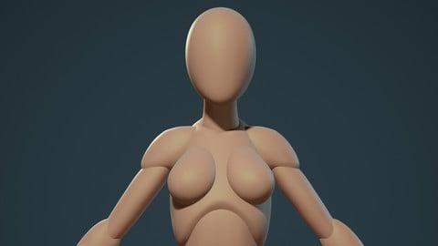 Stylized Female Modular Basemesh