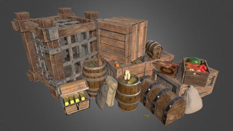 Fantasy Medieval Environment Props