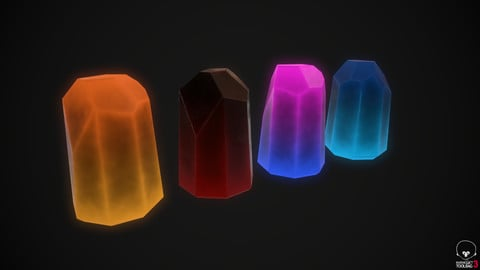 Stylized Energy Crystal Smart Material Bundle