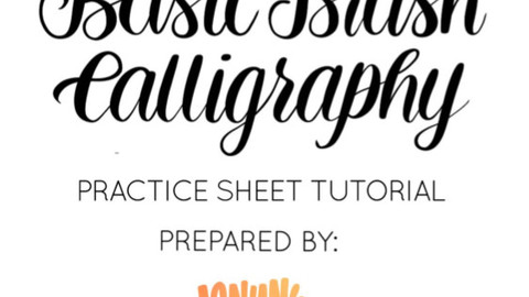 BASIC BRUSH CALLIGRAPHY PRACTICE SHEET TUTORIAL