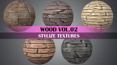 Stylized Wood Vol.02 - Hand Painted Texture Pack