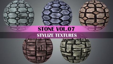 Stylized Stone Vol.07 - Hand Painted Texture