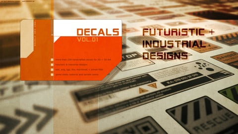 DECALS VOL.1 :: Futuristic & Industrial Design
