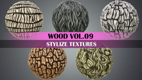 Stylized Wood Vol.09 - Hand Painted Texture Pack