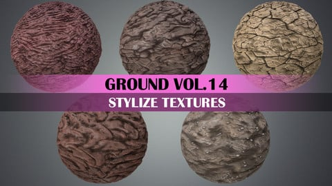 Stylized Ground Vol.14 - Hand Painted Texture Pack