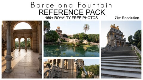 Reference Pack - Barcelona Fountain  150+ Royalty Free Photos