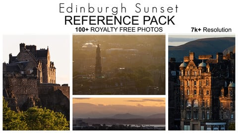 Reference Pack - Edinburgh Sunset - 100+ Royalty Free Photos