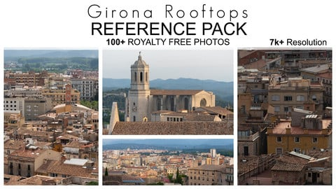Reference Pack - Girona Rooftops - 100+ Royalty Free Photos
