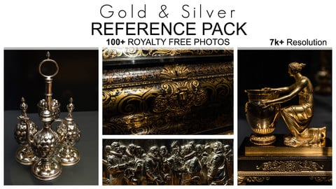 Reference Pack - Gold & Silver - 100+ Royalty Free Photos