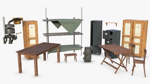 Bundle German Bunker Furnitures