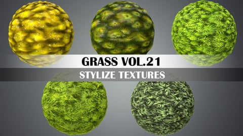 Stylized Grass Vol.21 - Hand Painted Texture Pack