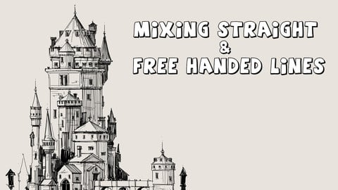 Mixing Straight & Free Handed Lines