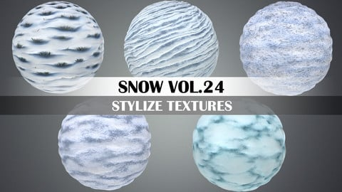 Stylized Snow Vol.24 - Hand Painted Texture Pack