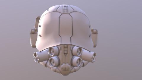 3D Printable Files - Cyber Punk 2077 Med Team, White Mask