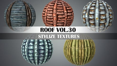 Stylized Roof Vol.30 - Hand Painted Texture