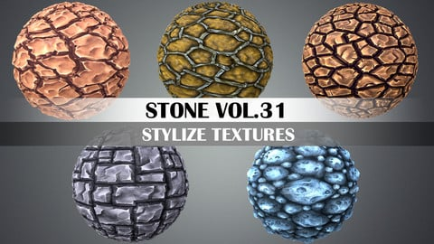 Stylized Stone Vol.31 - Hand Painted Texture