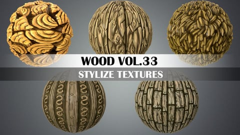 Stylized Wood Vol.33 - Hand Painted Texture