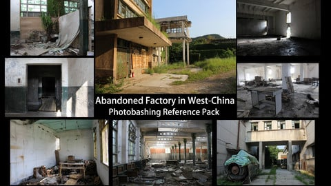 Abandoned Chinese Factory  -  Photo Reference Pack