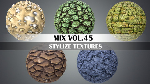 Stylized Ground Vol.45 - Hand Painted Texture Pack