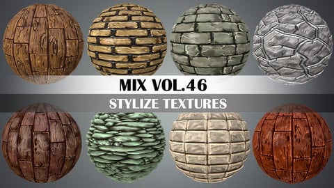 Stylized Mix Vol.46 - Hand Painted Texture Pack