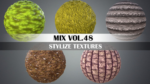 Stylized Mix Vol.48 - Hand Painted Texture Pack